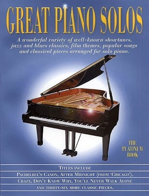 - Great piano solos - The platinum book - Partition - di-arezzo.fr