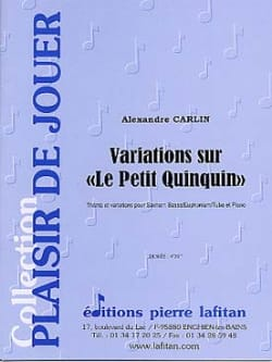 Alexandre Carlin - Variations on the little quinquin - Sheet Music - di-arezzo.co.uk
