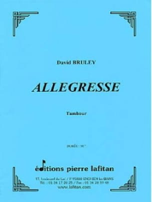 Allegresse - David Bruley - Partition - laflutedepan.com