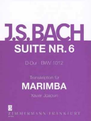 Suite N° 6 D-Dur BWV 1012 - Johann Sebastian Bach - laflutedepan.com