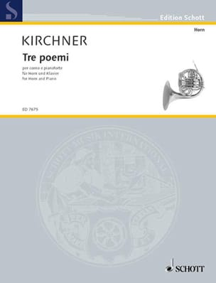 Volker David Kirchner - Tre Poemi For Horn - Sheet Music - di-arezzo.com