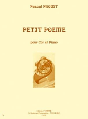 Pascal Proust - Petit poème - Partition - di-arezzo.fr