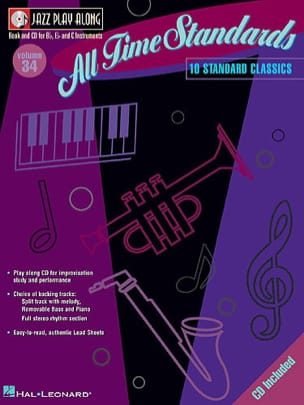 Jazz play-along volume 34 - All Time Standards laflutedepan