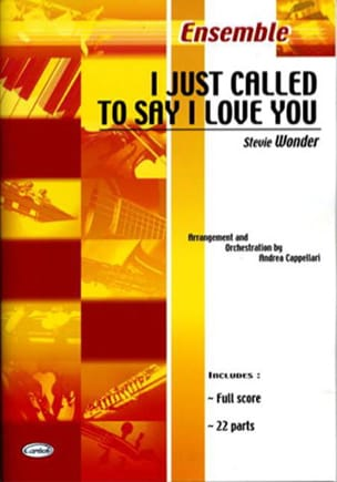 Stevie Wonder - I Just Called To Say I Love You - Sheet Music - di-arezzo.co.uk