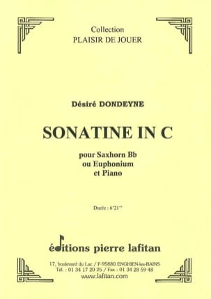 Désiré Dondeyne - Sonatine In C - Sheet Music - di-arezzo.co.uk
