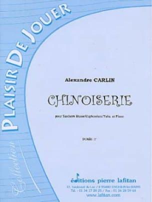 Alexandre Carlin - Chinoiserie - Partition - di-arezzo.fr