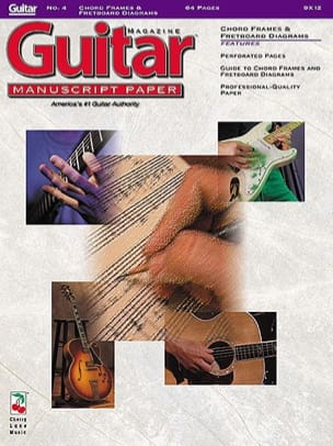 Guitar Manuscript Paper N ° 4. Chord Frames - Fretboard Diagrams - Sheet Music - di-arezzo.co.uk