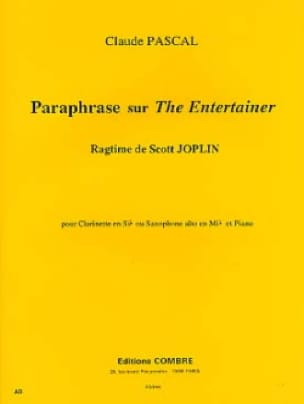 Claude Pascal - Paraphrase On The Entertainer - Sheet Music - di-arezzo.com