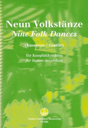 Kusserow Ernst / Grothe Anders - Nine Folk Dances - Partition - di-arezzo.fr
