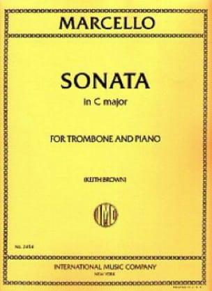 Sonate en Do Majeur Benedetto Marcello Partition laflutedepan