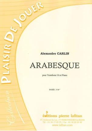 Alexandre Carlin - Arabesque - Partition - di-arezzo.fr