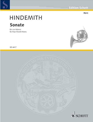 Sonate (Partitur) - Paul Hindemith - Partition - laflutedepan.com