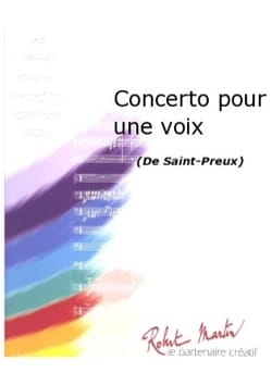 Saint Preux - One voice Concerto - Sheet Music - di-arezzo.com