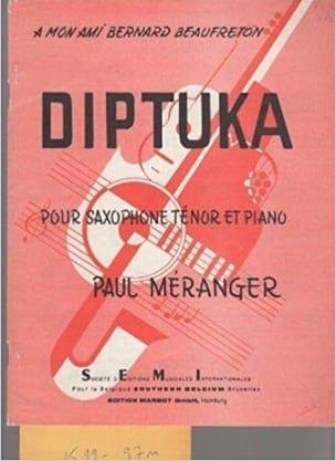 Diptuka - Paul Méranger - Partition - Saxophone - laflutedepan.com