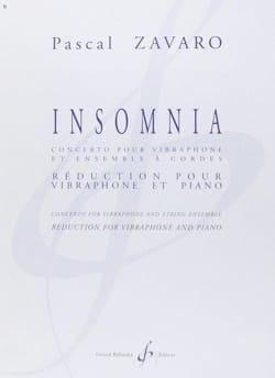 Pascal Zavaro - Insomnia - Sheet Music - di-arezzo.com
