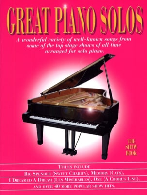 - Great piano solos - The show book - Partition - di-arezzo.fr