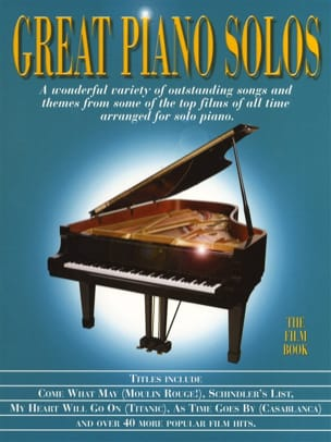 Great piano solos - The film book Partition laflutedepan
