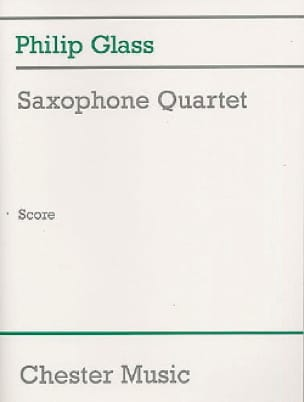 Philip Glass - Saxophone Quartet - Conducteur - Partition - di-arezzo.fr