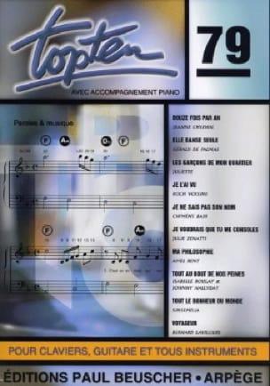 Topten 79 - Partition - Chansons françaises - laflutedepan.com