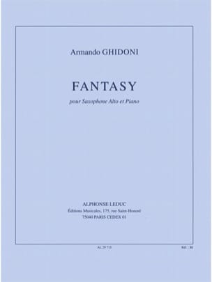 Armando Ghidoni - Fantasy - Sheet Music - di-arezzo.co.uk