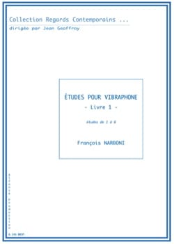 François Narboni - Studies for vibraphone - Book 1 - Sheet Music - di-arezzo.co.uk