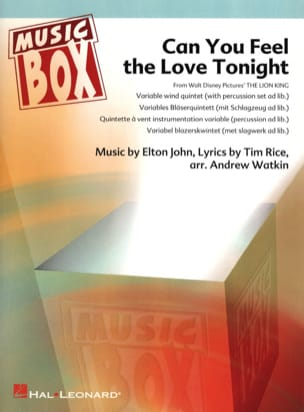 Elton John - Can you feel the love tonight (Le Lion) - music box - Partition - di-arezzo.fr