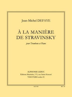 Jean-Michel Defaye - En la forma de Stravinsky - Partition - di-arezzo.es