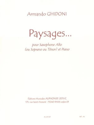 Armando Ghidoni - Paysages... - Partition - di-arezzo.fr