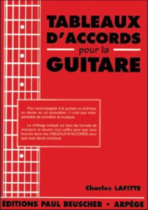 Charles Lafitte - Chord Tables For Guitar - Sheet Music - di-arezzo.co.uk