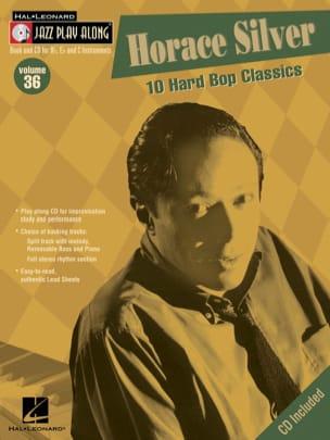 Horace Silver - Jazz play-along volume 36 - 10 Hard Bop Classics - Partition - di-arezzo.fr