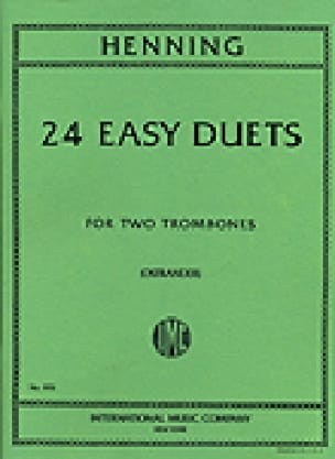 Carl Theodor Henning - 24 Easy Duets For Two Trombones - Partition - di-arezzo.fr