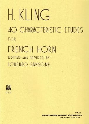 40 Characteristic Etudes For French Horn Henri Kling laflutedepan