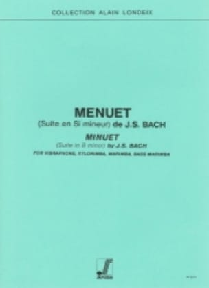 BACH - Menuet Suite En Si Mineur - Partition - di-arezzo.fr