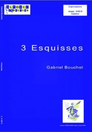 3 Esquisses - Gabriel Bouchet - Partition - laflutedepan.com