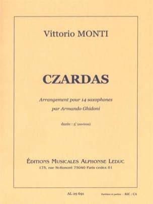 Czardas Vittorio Monti Partition Saxophone - laflutedepan