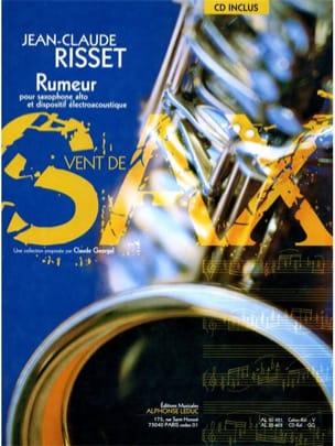 Rumeur Jean-Claude Risset Partition Saxophone - laflutedepan