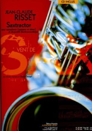 Saxtractor - Jean-Claude Risset - Partition - laflutedepan.com