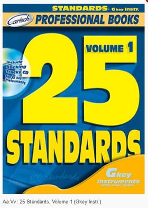 25 Standards Volume 1 - Professional Books - Partition - di-arezzo.fr