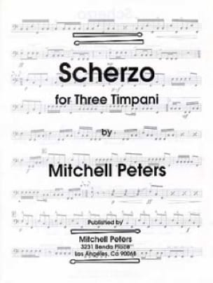 Scherzo for Three Timpani Mitchell Peters Partition laflutedepan