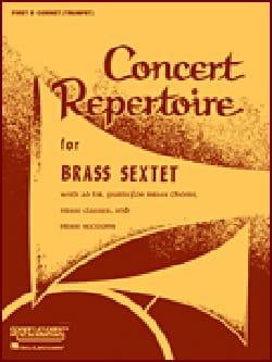 - Concert Repertoire For Brass Sextet - Trombone 2 & 3 - Partition - di-arezzo.fr