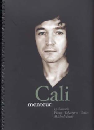 Menteur - Cali - Partition - Chansons françaises - laflutedepan.com