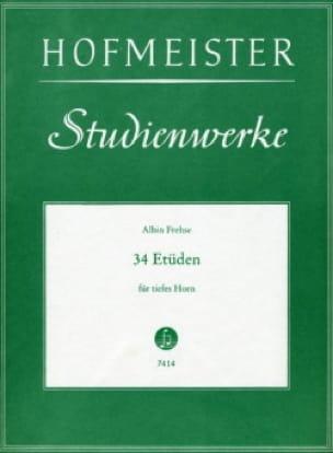 34 Etüden Für Tiefes Horn - Albin Frehse - laflutedepan.com