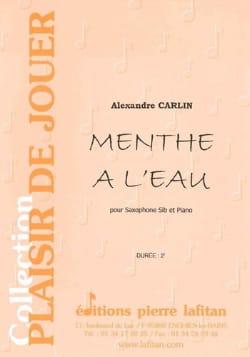 Menthe à l'eau - Alexandre Carlin - Partition - laflutedepan.com