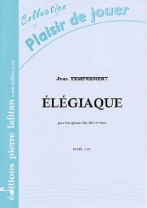 Elégiaque - Jean Temprement - Partition - Saxophone - laflutedepan.com