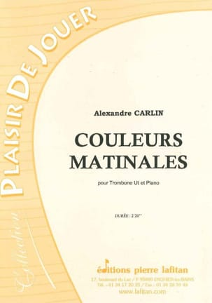 Alexandre Carlin - Couleurs matinales - Partition - di-arezzo.fr