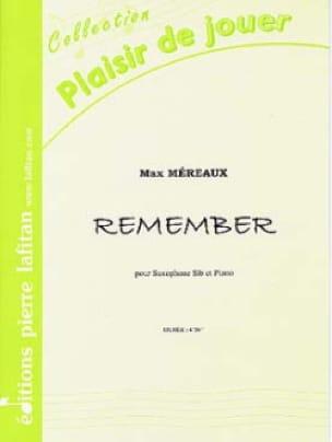 Max Méreaux - Remember - Partition - di-arezzo.fr