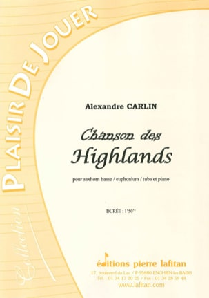 Chanson des Highlands Alexandre Carlin Partition Tuba - laflutedepan