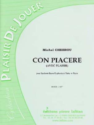 Con Piacere Michel Chebrou Partition Tuba - laflutedepan