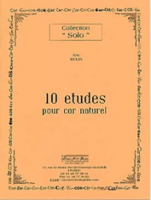 Eric Hulin - 10 Studies For Natural Horn - Sheet Music - di-arezzo.co.uk