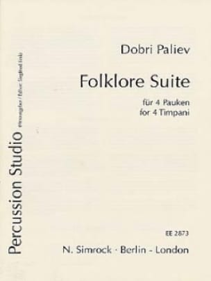 Folklore Suite Dobri Paliev Partition Timbales - laflutedepan